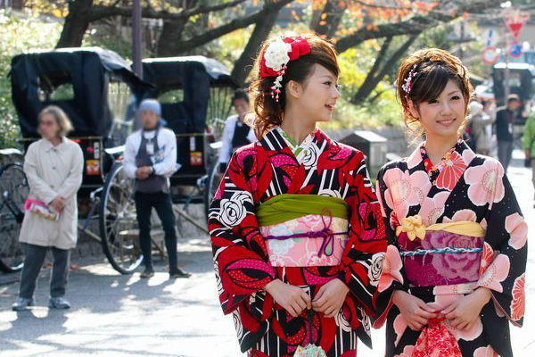 Where did the Japanese kimono come from?