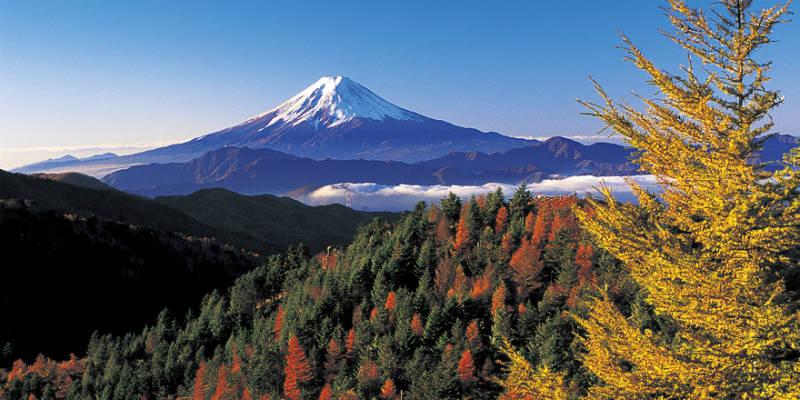 Mt. Fuji from Mt. Daibosatsu