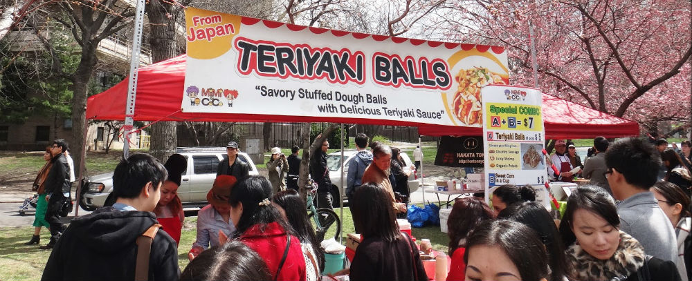 Teriyaki Balls food stall