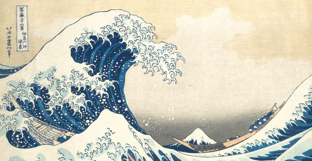 Hokusais famous Under the Wave Off Kanagawa