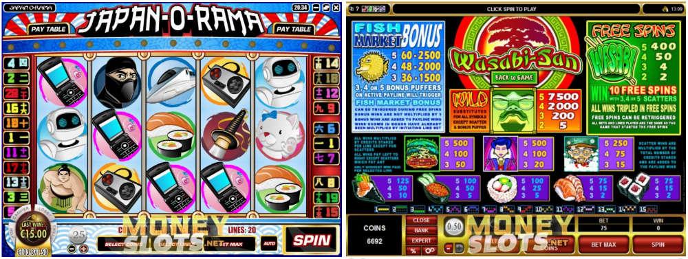 Japanese-themed money slot games