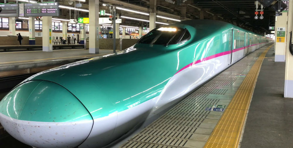 The Hayabusa Shinkansen at Omiya Station