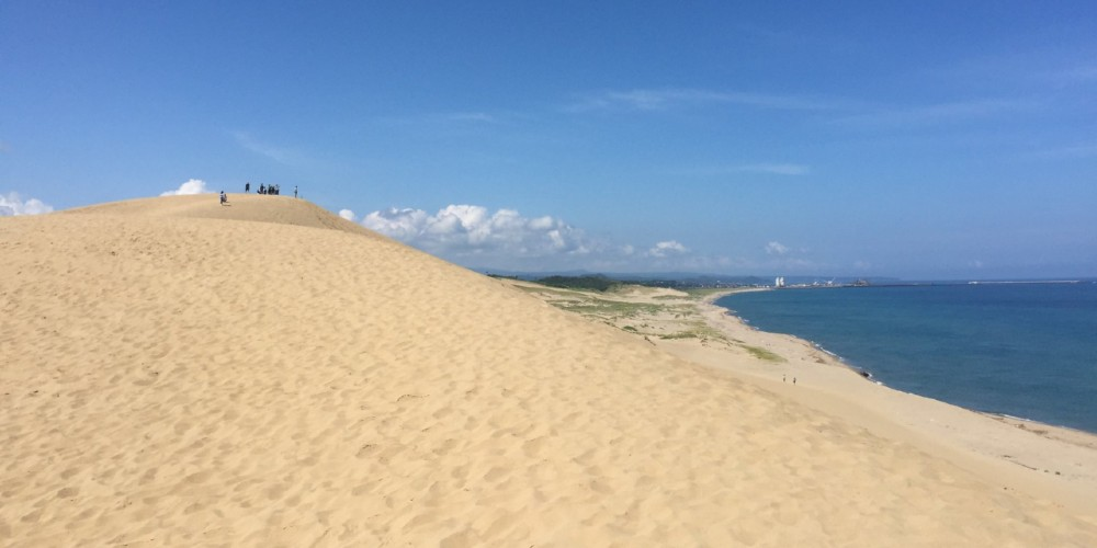 The vast Tottori sand dunes are one of Japan's more surprising sights.
