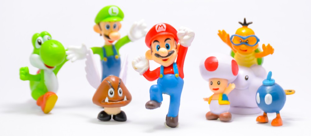 The characters of Super Mario are a highly and widely marketable aspect of gaming.
