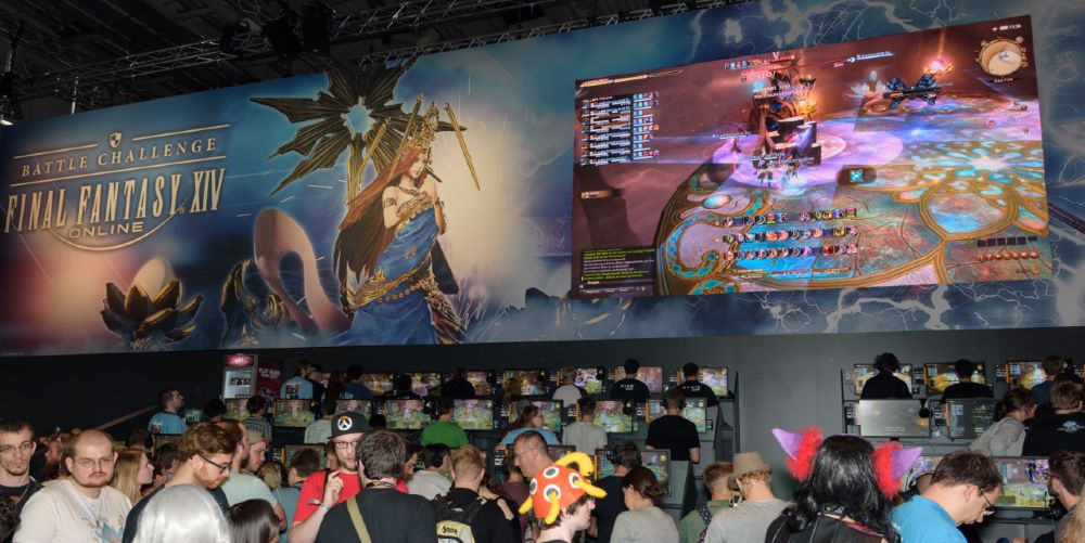 Final Fantasy, from Square Enix, attracts thousands of fans to events like this one in Germany.