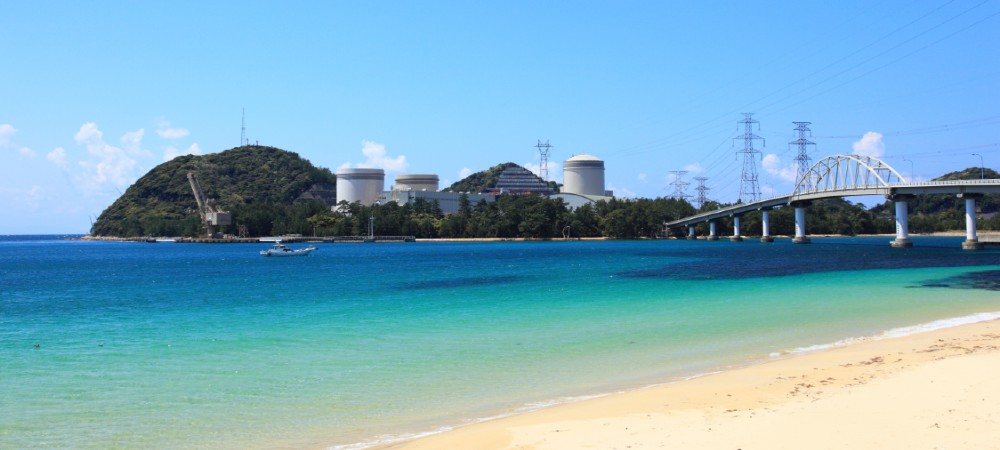 Mihama nuclear power plant, Fukui Prefecture, Honshu, Japan.