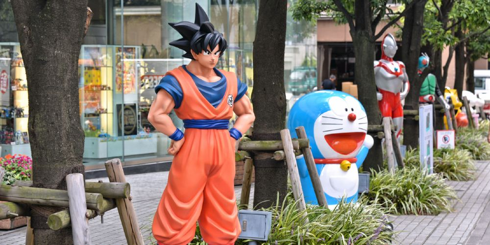 Dragon Ball protagonist Son Goku (left) is now among the most instantly recognizable of Japanese anime characters.