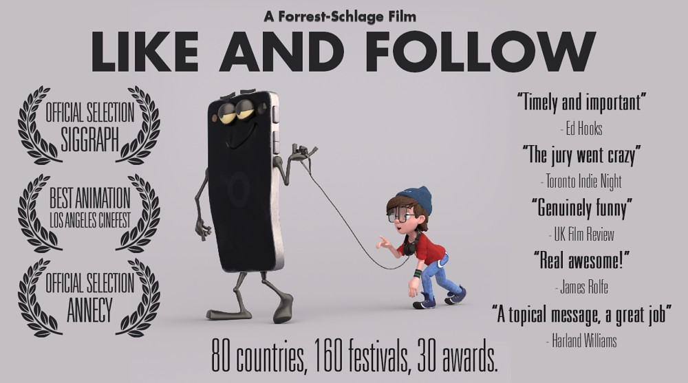 Like and Follow is a multi-award winning short animated film.