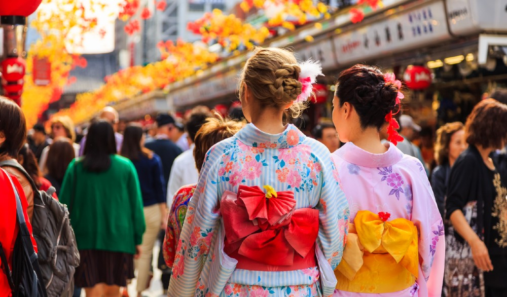 Tens of millions of foreign tourists visit Japan each year to experience the culture.