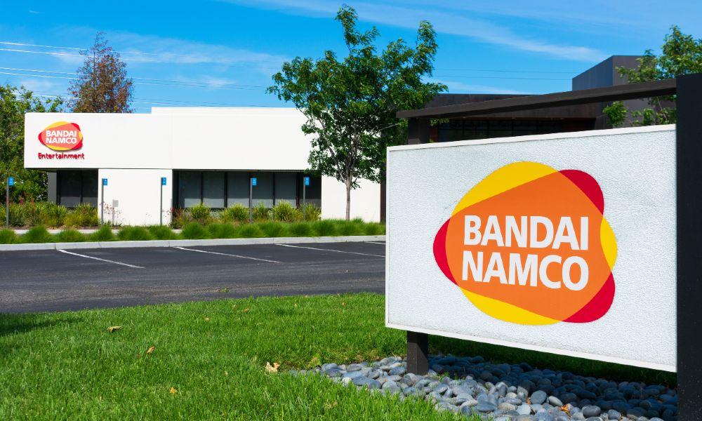 The US headquarters of Japanese video game company Bandai Namco Entertainment in Santa Clara, California, USA.
