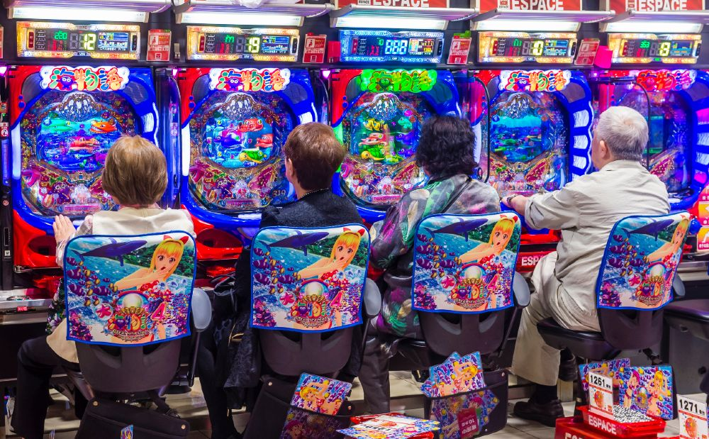 Pachinko parlors are one of the most colorful and visible sights all across Japan.