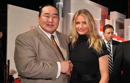 Asashoryu and Cameron Diaz