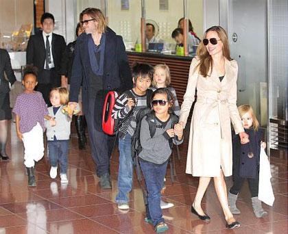Brad Pitt, Angelina Jolie in Tokyo