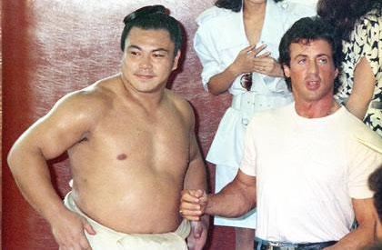 Chiyonofuji Meets Rocky