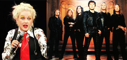 Cyndi Lauper, Iron Maiden