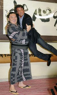 Hakuho Lifts Sylvester Stallone