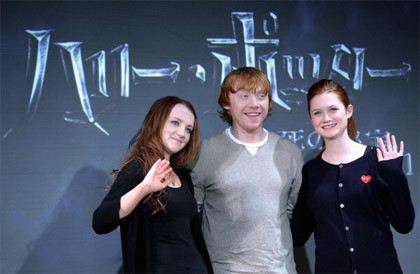 Rupert Grint, Evanna Lynch, Bonnie Wright