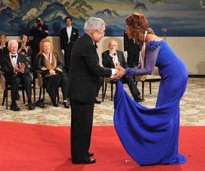 Sophia Loren receives Praemium Imperiale