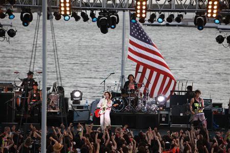 Vamps play the USS Missouri