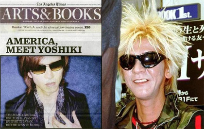 Yoshiki in the LA Times, Taiji