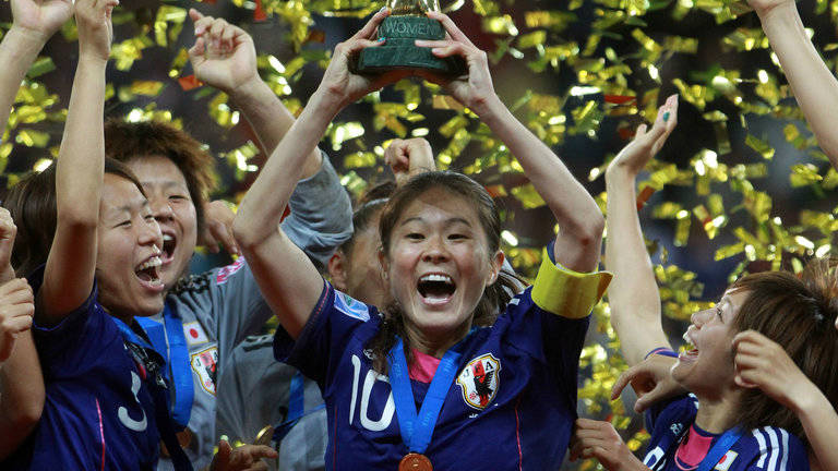 Sawa Homare lifts the 2011 World Cup