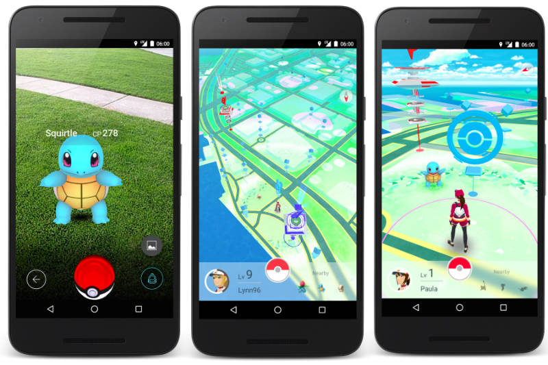 Pokemon Go integration on a smartphone