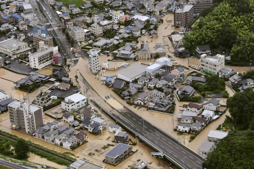 Flooding in Hiroshima (Kyodo)