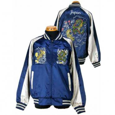 View NEW Sukajan Jacket - Dragon/Tiger2 - Navy