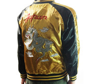 View Sukajan Jacket - Dragon (Gold, M-XL)